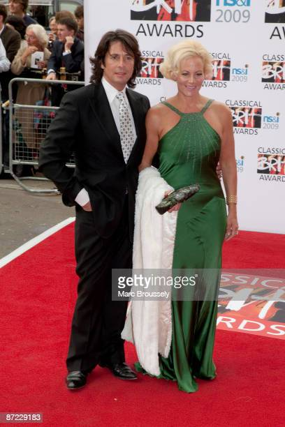 Laurence LlewelynBowen and his wife Jackie LlewelynBowen arrive for the 2009 Classical Brit Awards at the Royal Albert Hall on May 14 2009 in London...