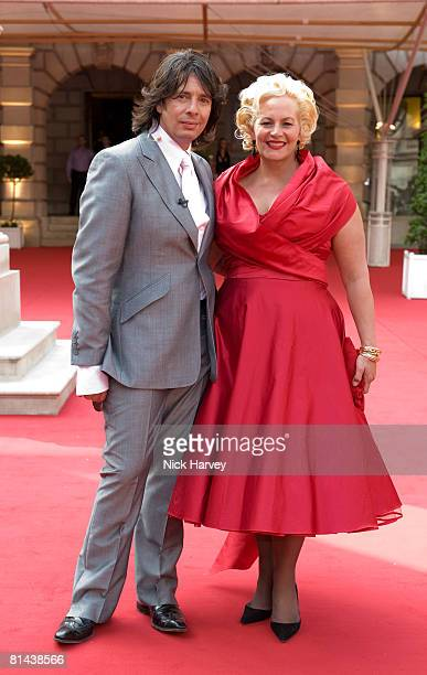Laurence LlewelynBowen and his wife Jackie LlewelynBowen attend The Royal Academy of Arts Summer Exhibition at the Royal Academy of Arts on June 4...