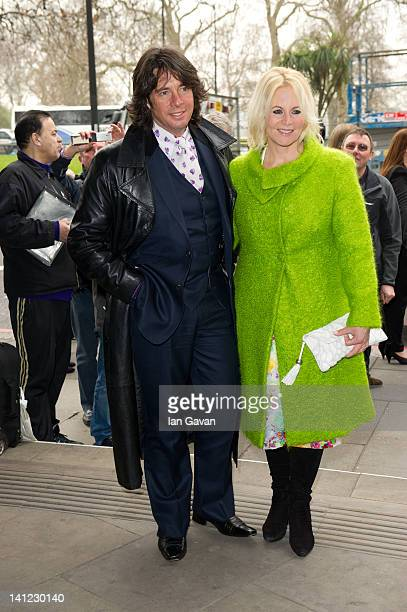Laurence LlewelynBowen and Jackie LlewelynBowen attend the TRIC awards at the Grosvenor House Hotel on March 13 2012 in London England