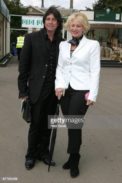 Laurence LlewelynBowen and Jackie LlewelynBowen visit the Chelsea Flower Show at Royal Hospital Chelsea on May 18 2009 in London England