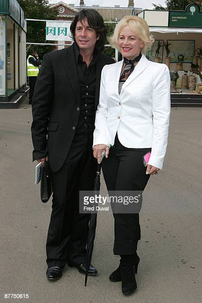 Laurence LlewelynBowen and Jackie LlewelynBowen visits the Chelsea Flower Show at Royal Hospital Chelsea on May 18 2009 in London England
