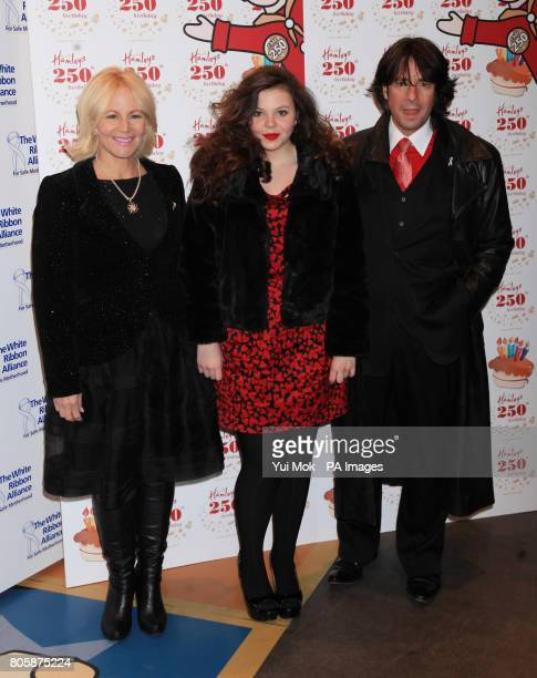 Laurence LlewelynBowen and wife Jackie and daughter Cecile arriving for toy store Hamleys 250th Birthday Party in association with White Ribbon...