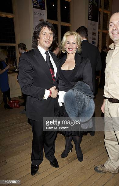 Laurence LlewelynBowen and wife Jackie LlewelynBowen attend a dinner at the Royal Geographic Society to celebrate the 1 millionth Land Rover...