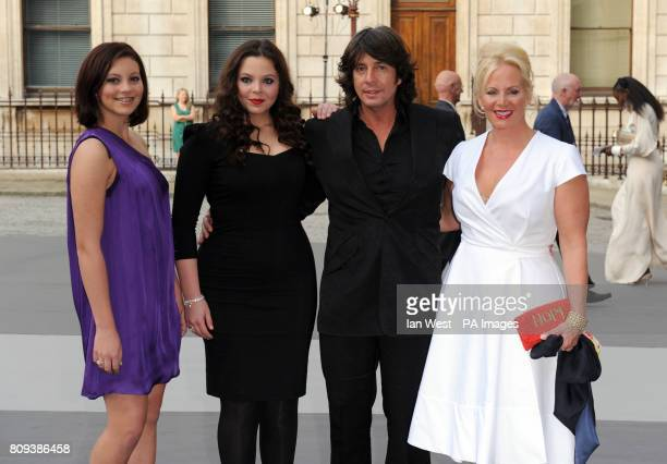 Laurence LlewelynBowen his wife and their two daughters Cecile and Hermione attend the Royal Academy of Arts' Summer Exhibition 2011 at the Royal...