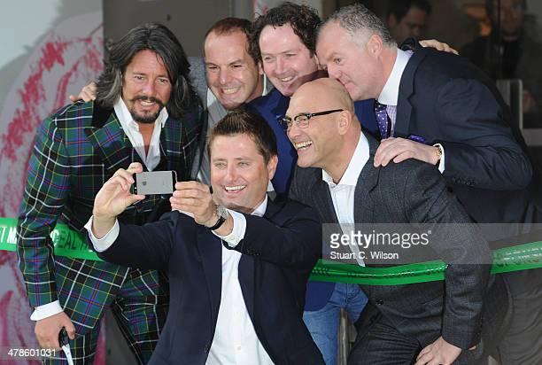 Laurence Llewlwyn-Bowen, Martin Lewis, Diarmuid Gavin, Gregg Wallace and George Clarke attend a photocall at the Ideal Home Show at Earls Court on...
