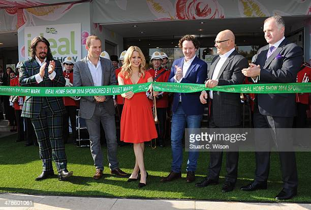 Laurence Llewlwyn-Bowen, Martin Lewis, Melinda Messenger, Diarmuid Gavin, Gregg Wallace and George Clarke attend a photocall at the Ideal Home Show...
