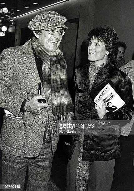Laurence Luckinbill and Lucie Arnaz during Attending Play Nicholas Nickleby December 17 1981 at Plymouth Theatre in New York City New York United...