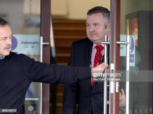 Laurence MacKenzie Chief Executive Officer from Northern Ireland Water arrives to speak to the media in Belfast as tens of thousands of homes and...