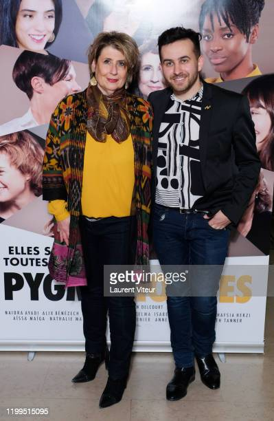 Laurence Meunier and Quentin Delcourt attend the Pygmalionnes Screening At Assemblee Nationale on January 14 2020 in Paris France