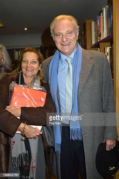 Laurence Mouillefarine from Madame Figaro and Alain Flammarion attend 'Home' India Madhavi and Soline Delos Book Launch at Musee Arts Decoratif...