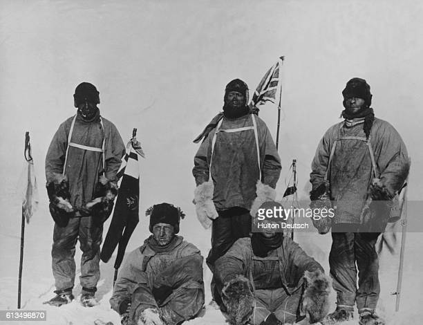 Laurence Oates HR Bowers Robert F Scott Edward A Wilson and Edgar Evans at the south south pole A destination they reached a month after Amundsen's...