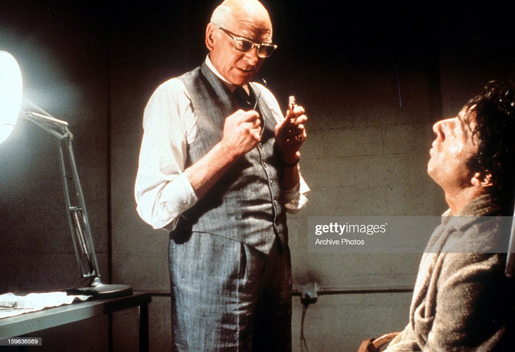 Laurence olivier and dustin hoffman in marathon man pictures laurence olivier about to torture dustin hoffman in a scene from the film marathon man thecheapjerseys Images