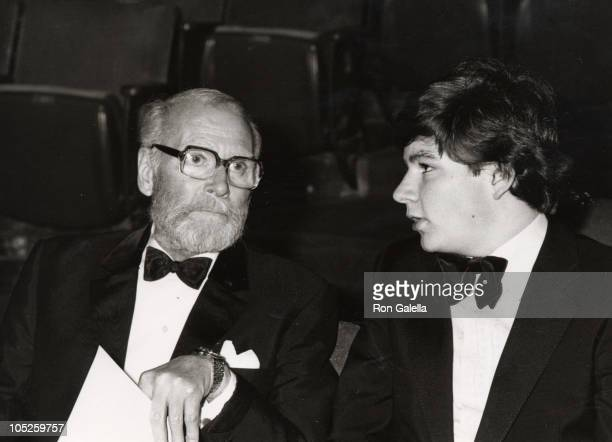 Laurence Olivier and son during 51st Annual Academy Awards at Dorothy Chandler Pavilion at the LA Music Center in Los Angeles CA United States