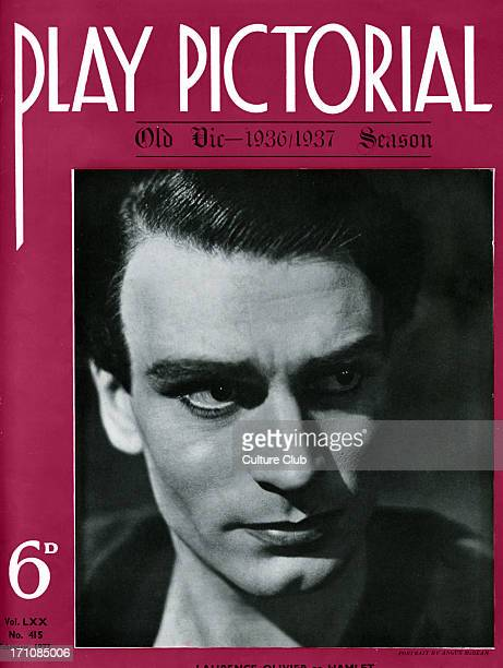 Laurence Olivier as Hamlet in Tyrone Guthrie's production of Shakespeare's play at the Old Vic London January 1937 LO English actor director and...