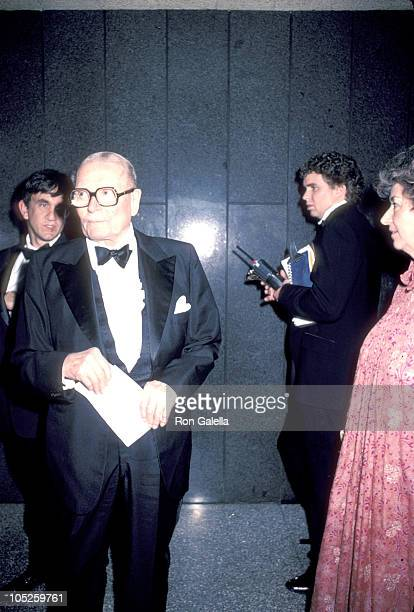 Laurence Olivier during 57th Annual Academy Awards at Dorothy Chandler Pavilion in Los Angeles California United States