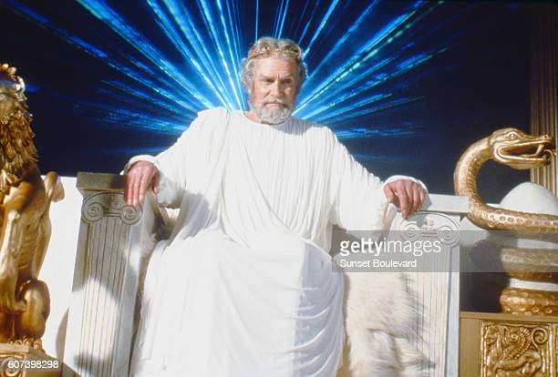 Laurence Olivier is Zeus on the set of Clash of the Titans