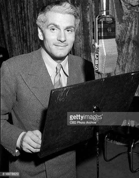 Laurence Olivier on The Lux Radio Theaters presentation of Goodbye Mr Chips in Hollywood California Image dated November 20 1939
