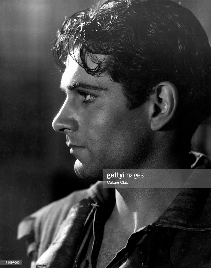 Laurence Olivier - portrait as Heathcliff in film of 'Wuthering Heights' book originally written by Emily Bronte- film made in 1939 - British actor and director 22 May 1907 - 11 July 1989