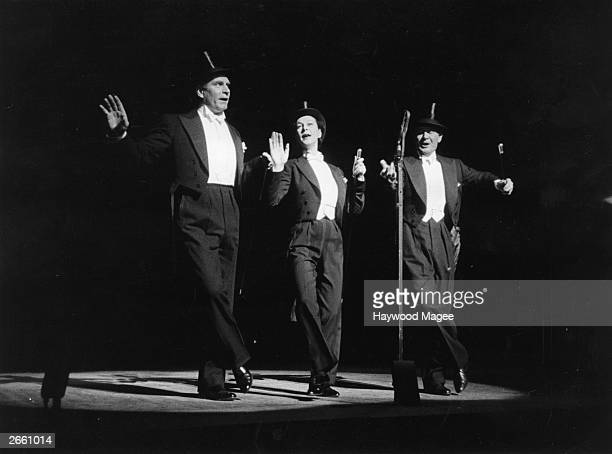 Laurence Olivier with Vivien Leigh and John Mills performing in the 'Night of 100 Stars' at the London Palladium Original Publication Picture Post...