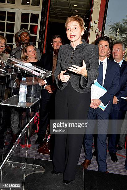 Laurence Parisot from the MEDEF attends the 'Prix De La Femme D'Influence 2014' Ceremony at Hotel Du Louvre on December 8 2014 in Paris France