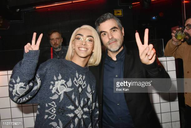 Laurence Remila and Bilal Hassani attend the Technikart Party at Le Petit Palace on February 05 2019 in Paris France