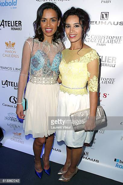 Laurence Roustadjee and Aida Touihri attend the Christophe Guillarme show as part of the Paris Fashion Week Womenswear Fall/Winter 2016/2017 at Pub...