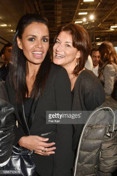 Laurence Roustandje and Marion Dumas attend the Backstage Cocktail of 'Salon Du Chocolat 2018 Chocolate Fair' Auction Show in Benefit of Mecenat...