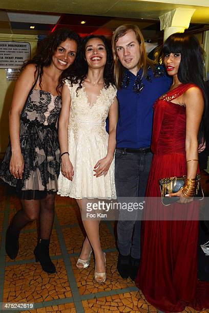 Laurence Roustandjee Aida Touihri designer Christophe Guillarme and Mia Frye attend the Christophe Guillarme show as part of the Paris Fashion Week...