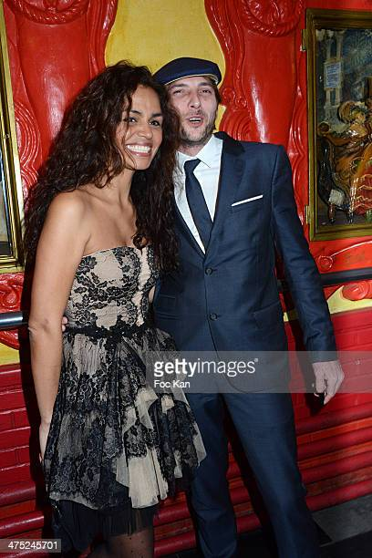 Laurence Roustandjee and a guest attend the Christophe Guillarme show as part of the Paris Fashion Week Womenswear Fall/Winter 2014-2015 on February...