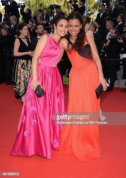 Laurence Roustandjee and Aida Touihri attend attend The Homesman Premiere at the 67th Annual Cannes Film Festival on May 18 2014 in Cannes France