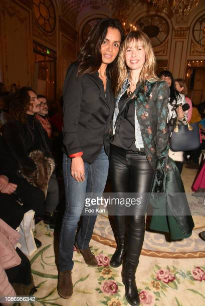 Laurence Roustandjee and Romane Cerda attend the Tom Verlaine Haute Couture Spring Summer 2019 show as part of Paris Fashion Week on January 22 2019...