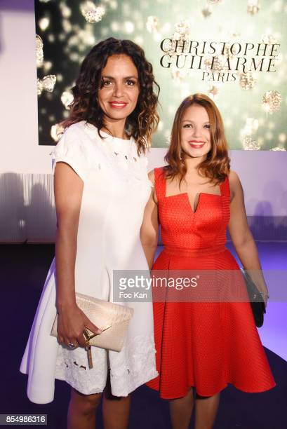 Laurence Roustandjee and Severine Ferrer attend the Christophe Guillarme Show as part of the Paris Fashion Week Womenswear Spring/Summer 2018 on...