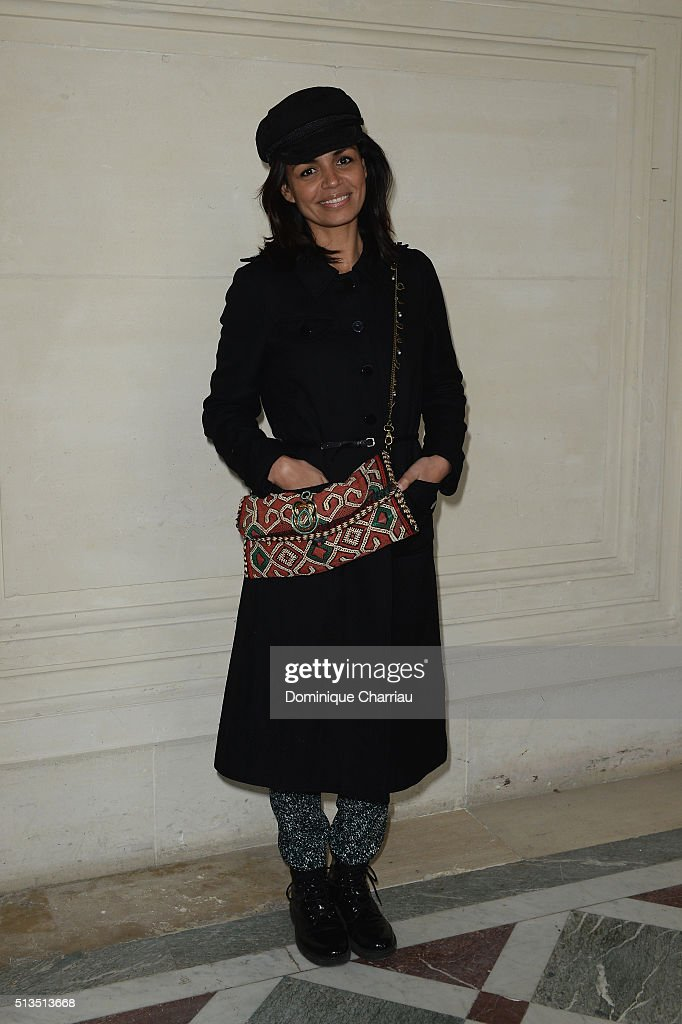 Laurence Roustandjee attends the Alexis Mabille show as part of the Paris Fashion Week Womenswear Fall/Winter 2016/2017 on March 3, 2016 in Paris, France.