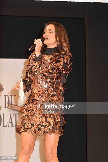 Laurence Roustandjee attends the Chocolate fashion show as a part of the Salon Du Chocolat 2016 Chocolate Fair at Parc des Expositions Porte de...