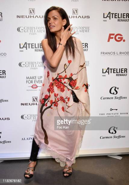 Laurence Roustandjee attends the Christophe Guillarme show as part of the Paris Fashion Week Womenswear Fall/Winter 2019/2020 on February 27 2019 in...