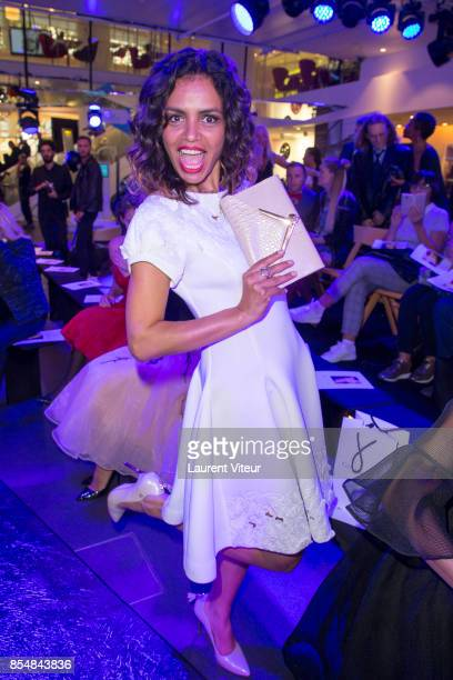 Laurence Roustandjee attends the Christophe Guillarme show as part of the Paris Fashion Week Womenswear Spring/Summer 2018 on September 27 2017 in...