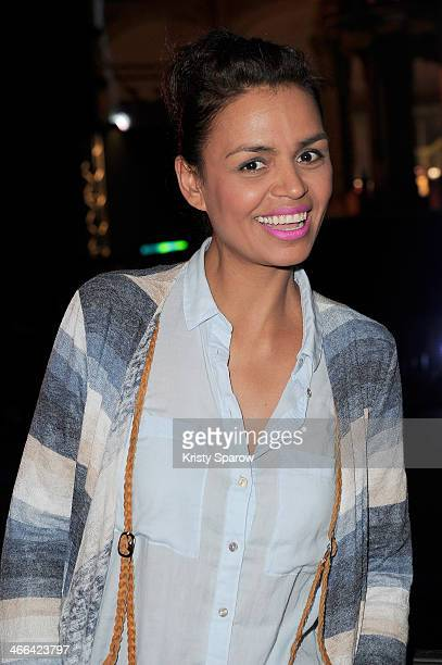 Laurence Roustandjee attends the Giant Fitness Course by Les Mills and Reekok at the Grand Palais on February 1 2014 in Paris France