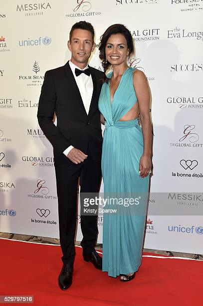 Laurence Roustandjee attends the Global Gift Gala Photocall at the Hotel Georges V on May 09 2016 in Paris France