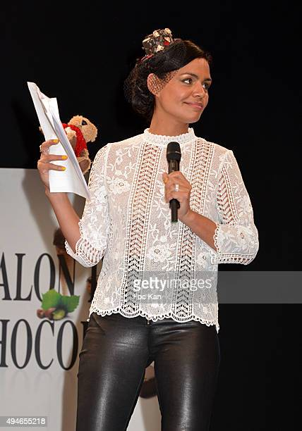 Laurence Roustandjee attends the 'Salon Du Chocolat 2015 Chocolate Fair ' Auction Show in Benefit to Mecenat Chirurgie Cardiaque At Porte de...