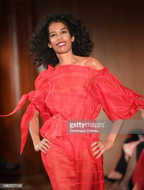 Laurence Roustandjee attends the 'Sauvez Le Coeur Des Femmes Red Defile' Show At Hotel Marrriot In Paris on November 16 2018 in Paris France