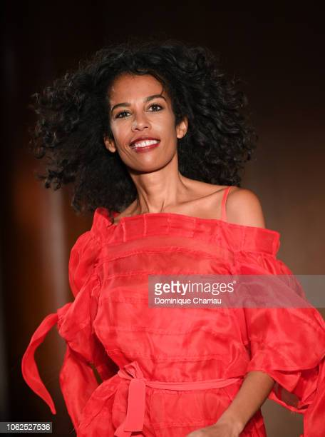 Laurence Roustandjee attends the Sauvez Le Coeur Des Femmes Red Defile Show At Hotel Marrriot In Paris on November 16 2018 in Paris France