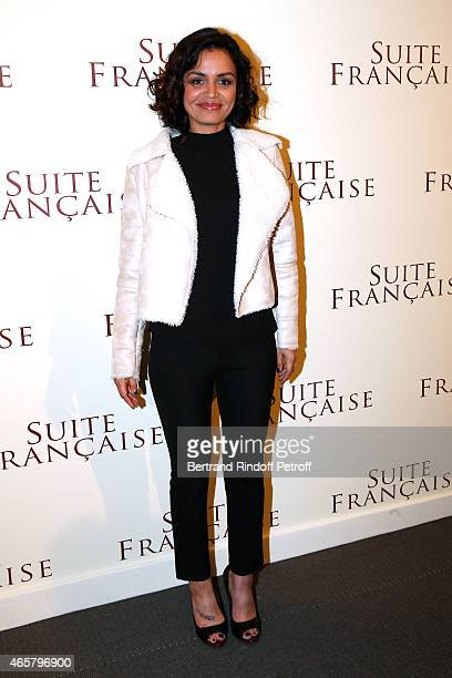 Laurence Roustandjee attends the world premiere of 'Suite Francaise' at Cinema UGC Normandie on March 10 2015 in Paris France