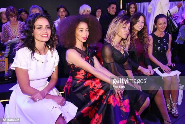 Laurence Roustandjee Aurelie Konate Louisy Joseph Chanez Ta and Emmanuelle Boidron attend the Christophe Guillarme Show as part of the Paris Fashion...