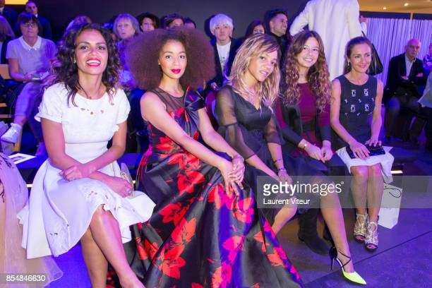 Laurence Roustandjee Aurelie Konate Louisy Joseph guest and Emmanuelle Boidron attend the Christophe Guillarme show as part of the Paris Fashion Week...