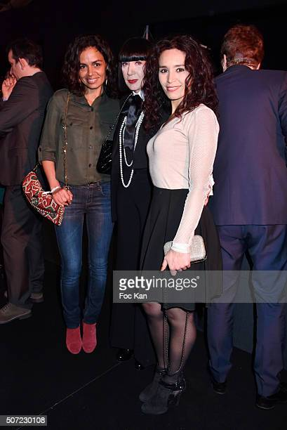 Laurence Roustandjee Chantal Thomass and Aida Touihri attend the 'Pirelli Calendar by Annie Leibovitz' Launch Party At Hotel National Des Invalides...