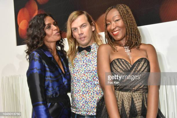Laurence Roustandjee Christophe Guillarme and Nadege Beausson Diagne attend the Christophe Guillarme show as part of the Paris Fashion Week...