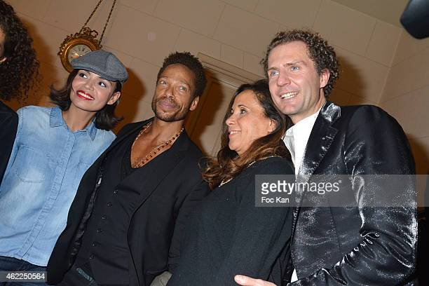 Laurence Roustandjee Gary Dourdan Sylvia Sermenghi from Legends of Monaco and Nicolas Mereau attend the Legends of Monaco show as part of Paris...