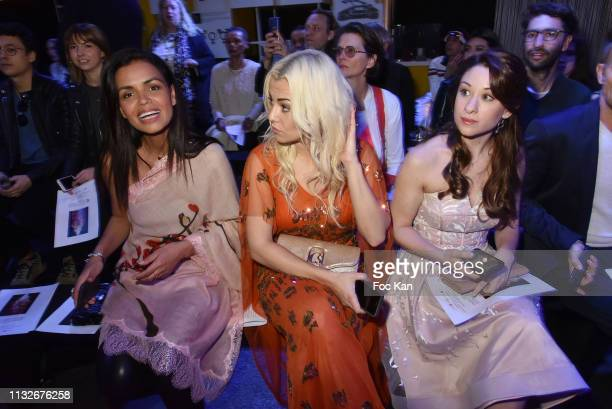Laurence Roustandjee Katrina Patchett and Jade Geropp attend the Christophe Guillarme show as part of the Paris Fashion Week Womenswear Fall/Winter...