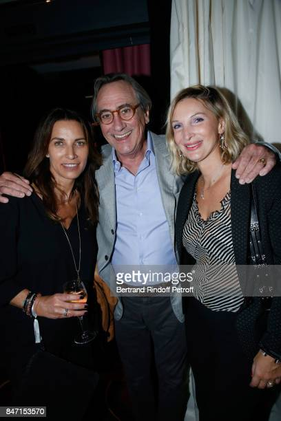 Laurence Tordjmann Philippe Lavil and Francesca Sardou attend the Reopening of the Hotel Barriere Le Fouquet's Paris decorated by Jacques Garcia at...