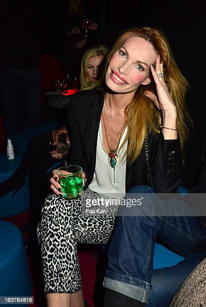 Laurence Treil attends the 'The Door' Club Opening Cocktail and Patrick Skatcha Art Exhibition Preview at The Door Club on March 14 2013 in Paris...